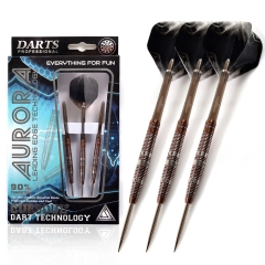 CUESOUL AURORA 21/23g/25g Steel Tip Tungsten Dart Set with Brown Lines