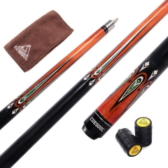 "CUESOUL 58"" CSBK003 19oz Full Maple Pool Cue Stick with Joint Protector/Shaft Protector and Cue Towel"