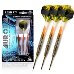 CUESOUL AURORA 21/23/25g Steel Tip Tungsten Dart Set with Golden Titanium Nitride Coating