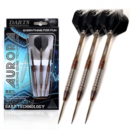 CUESOUL AURORA 21/23g/25g Steel Tip Tungsten Dart Set with Brown Titanium Nitride Coating