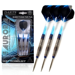 CUESOUL AURORA 21/23g/25g Steel Tip Tungsten Dart Set with Blue Titanium Nitride Coating