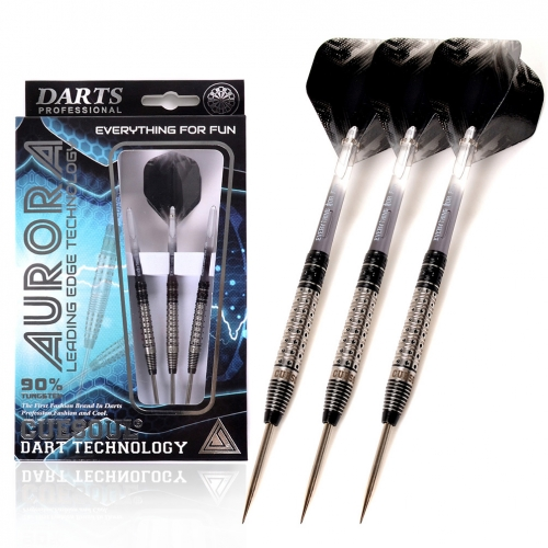 CUESOUL AURORA 21/23g/25g Steel Tip Tungsten Dart Set with Black Titanium Nitride Coating