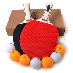 CUESOUL 2 players Table Tennis Set with 2 Paddles and 7 Balls