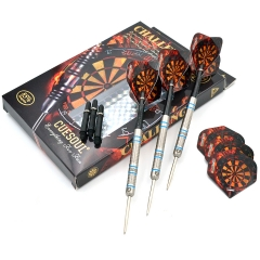 CUESOUL  22/24/26 Grams Tungsten Steel Tip Darts Set with Blue Line-Challenge  Series