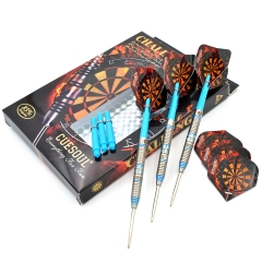 CUESOUL  22/24/26 Grams Tungsten Steel Tip Darts Set with Multi Groove-Challenge  Series