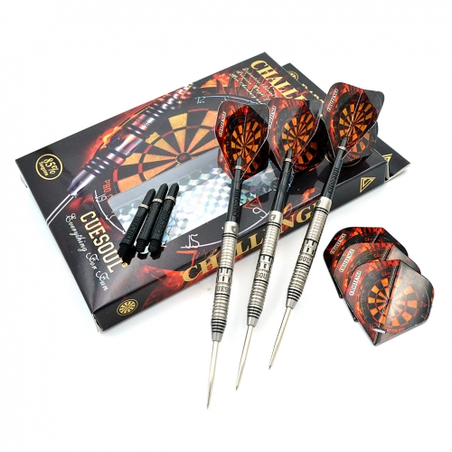CUESOUL  22/24/26 Grams Tungsten Steel Tip Darts Set with Yellow Line-Challenge  Series