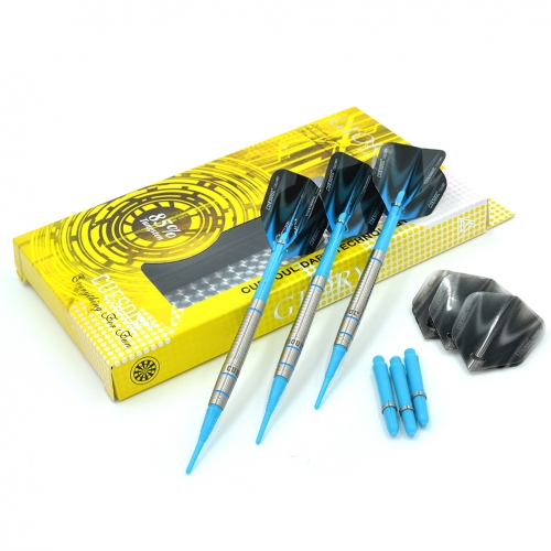 CUESOUL GLORY 85% Tungsten 16g Soft Tip Dart Set with Blue Line