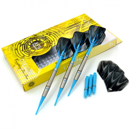 CUESOUL GLORY 85% Tungsten 16g Soft Tip Dart Set with Multi Groove
