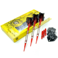 CUESOUL GLORY 85% Tungsten 16g Soft Tip Dart Set with Red Shafts