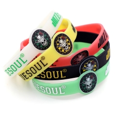 CUESOUL high quality silicone luminous wristband,set of 5