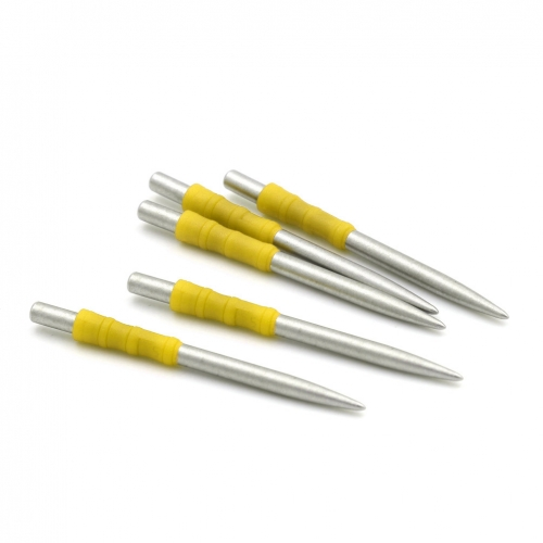 CUESOUL TOUCH POINT I Replacement Dart Steel Point Yellow,Steel Tips,Pack of 5pcs