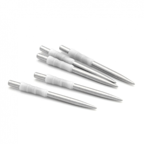 CUESOUL TOUCH POINT I Replacement Dart Steel Point White,Steel Tips,Pack of 5pcs