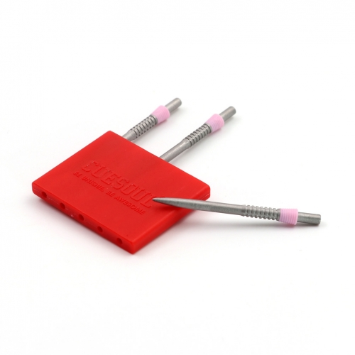 CUESOUL TOUCH POINT II Replacement Dart Steel Point,Steel Tips Red,Pack of 3pcs