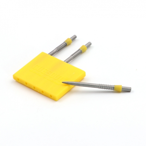 CUESOUL TOUCH POINT II Replacement Dart Steel Point,Yellow Steel Tips,Pack of 3pcs