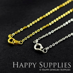 5 Pcs Nickel Free - High Quality Golden/ Silver Plated Long Chain Necklace, Fit For 2D Brass Findings(W104-B)