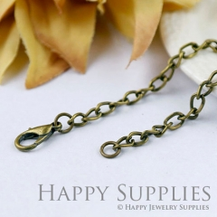 10pcs 70cm Antique Bronze Long Chain Necklace (06953)