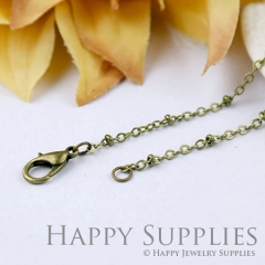 10pcs 70cm Antique Bronze Long Chain Necklace (06940)