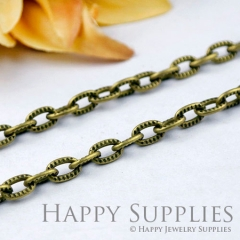 16.6 Feet (5x9mm) Nickel Free - 5x9mm Antique Bronze Cross O Brass Chains (W164)