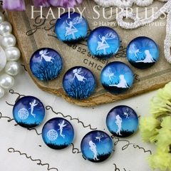 10pcs 12mm MGC119 Handmade Photo Glass Cabochon Fairy Angle
