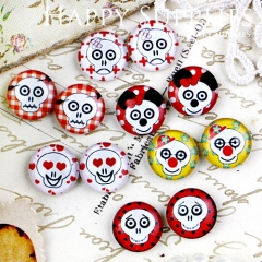 12pcs 12mm MGC88 Handmade Photo Glass Cabochon Skull