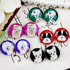 10pcs 12mm MGC74 Handmade Photo Glass Cabochon Cat Dog