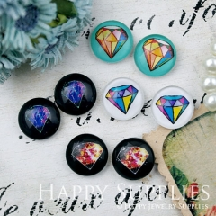 8pcs 12mm MGC168 Handmade Photo Glass Cabochon Diamonds