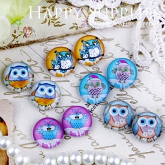 10pcs 12mm MGC83 Handmade Photo Glass Cabochon Owl