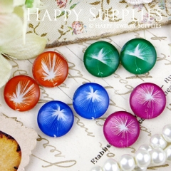 8pcs 12mm MGC80 Handmade Photo Glass Cabochon Flower