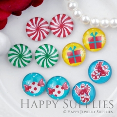 10pcs 12mm MGC182 Handmade Photo Glass Cabochon Candy Gift