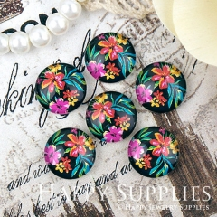 10pcs 12mm Flower Handmade Photo Glass Cabochon GC12-1277