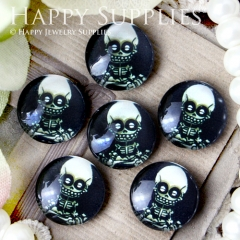 10pcs 12mm Skull Handmade Photo Glass Cabochon GC12-363