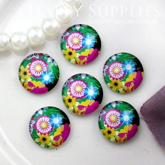 10pcs 12mm Flower Handmade Photo Glass Cabochon GC12-821