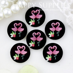 10pcs 12mm Bird Swan Handmade Photo Glass Cabochon GC12-663