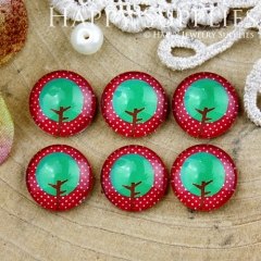 10pcs 12mm Tree Handmade Photo Glass Cabochon GC12-814
