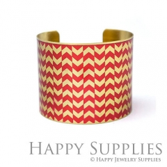 1pcs Decorative pattern Handmade Photo Brass Cuff Bracelet PBC104