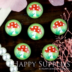 10pcs 12mm Mushroom Handmade Photo Glass Cabochon GC12-275