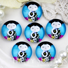 10pcs 12mm Doll Handmade Photo Glass Cabochon GC12-421