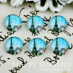 10pcs 12mm Tower,Eiffel Tower Handmade Photo Glass Cabochon GC12-049