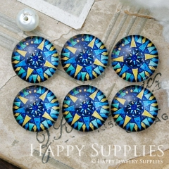 10pcs 12mm Colorful Geometric Handmade Photo Glass Cabochon GC12-1019