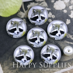 10pcs 12mm Wolf Handmade Photo Glass Cabochon GC12-1189