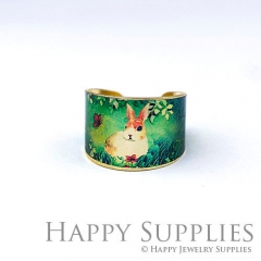 1pcs Rabbit Handmade Photo Brass Ring PR111