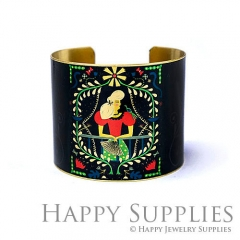 1pcs Woman Handmade Photo Brass Cuff Bracelet PBC109