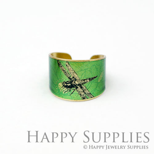 1pcs Dragonfly Handmade Photo Brass Ring PR107