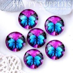 10pcs 12mm Butterfly Handmade Photo Glass Cabochon GC12-633