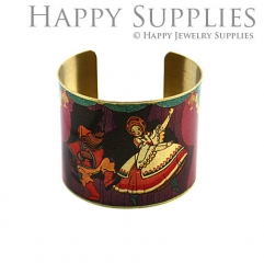 1pcs Girl Handmade Photo Brass Cuff Bracelet PBC080