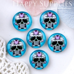 10pcs 12mm skull Handmade Photo Glass Cabochon GC12-626