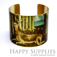 1pcs Shepherds Handmade Photo Brass Cuff Bracelet PBC064