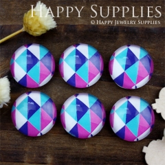 10pcs 12mm Triangle Geometric Handmade Photo Glass Cabochon GC12-825