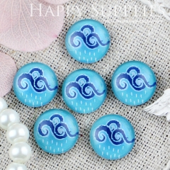10pcs 12mm Rain Cloud Handmade Photo Glass Cabochon GC12-445