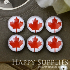 10pcs 12mm Maple Leaf Handmade Photo Glass Cabochon GC12-531